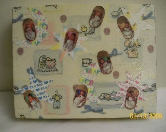 We're having a baby - Keepsake Memory Box - for all of baby's firsts