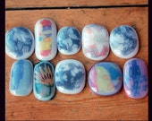 Glass Cabochons with images - large and medium (20)