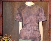 Dirty and Distressed Woman's Medium/ Men's Small Ruined and Rusted Wasteland T-Shirt OOAK