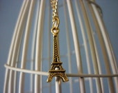Gold Eiffel Tower Charm Necklace - Free Postage to Australia