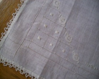fine linen with embroidery tatting, and cut work
