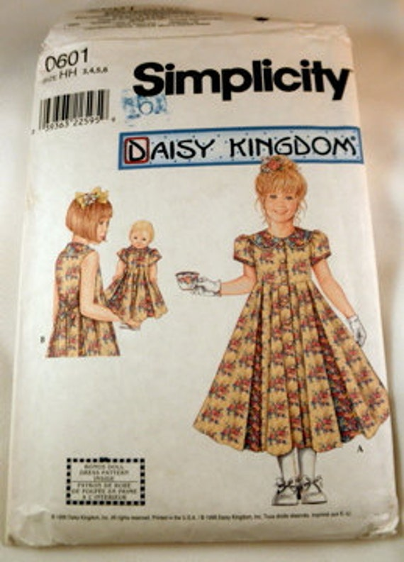 1998 Daisy Kingdom girl's dress pattern 0601