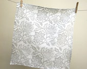 everyday gray on white passionflower hand block printed linen napkins kitchen home decor wedding or hostess gift set of 4