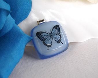 SKY BLUE  BUTTERFLY Pendant