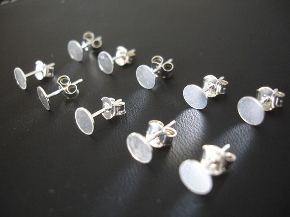 Earstuds Pure Sterling Silver and Ear Nuts