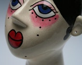Awesome Ceramic Mannequin Head - Jewelry Display