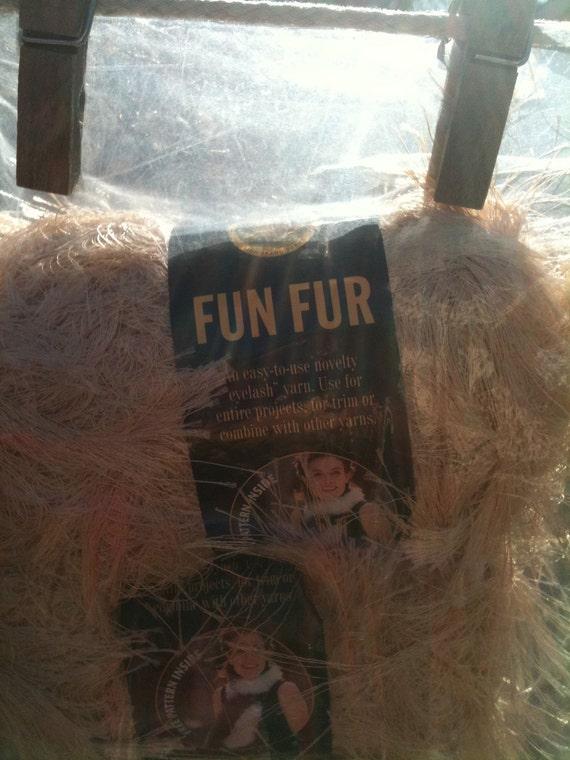 3 Champagne Fun Fur (eyelash yarn) - 3 skeins - bulk