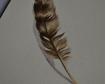 Original Feather Painting