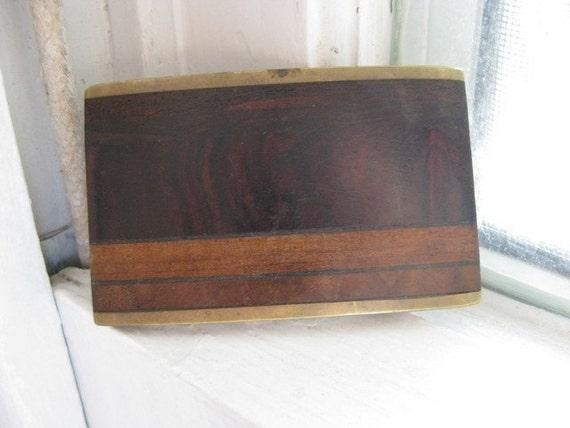 Ultimate Man Gift Kenneth Reid New Mexico Brass Wood Belt Buckle