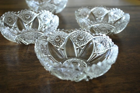 Pressed Glass Berry Bowls