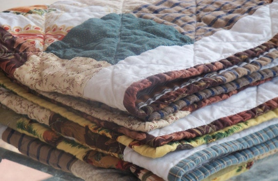 Reserved for Diana Bevill - Handmade Fall Autumn lap quilts