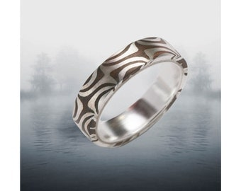 Twisted Tide 5mm Mokume Gane Ring