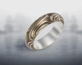 Mokume Gane Ring Size 6  4-5mm wide