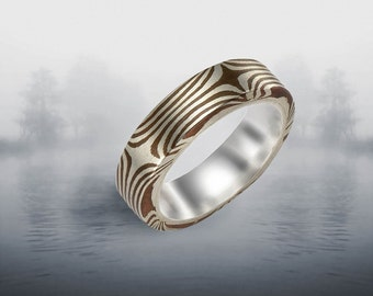 Stellar 5mm Mokume Gane Ring