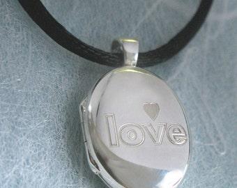 Sale Sterling Silver Love Locket