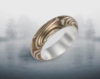 Mokume Gan Ring Size 8