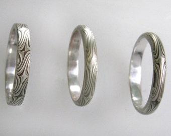 Thin RIngs Mokume gane