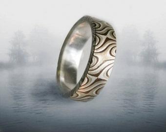Mokume Mixed Metals Size7 & 8 Ring