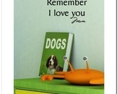 Remember I love you - Vinyl Lettering Wall Words Decor