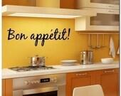 BON APPETIT - Kitchen, Vinyl Wall Lettering Decor