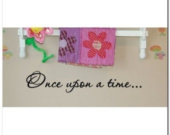 ONCE UPON A TIME... - Vinyl Wall Lettering Decor Decal