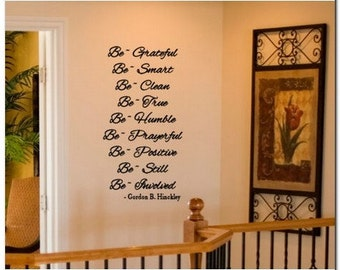 HINCKLEY BE'S - lds Vinyl Wall Lettering Decor
