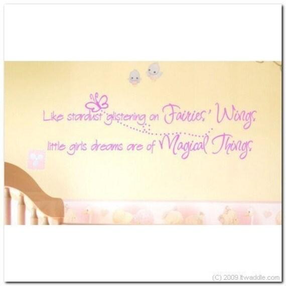 LITTLE GIRLS DREAMS - Vinyl Wall Lettering Words Decor