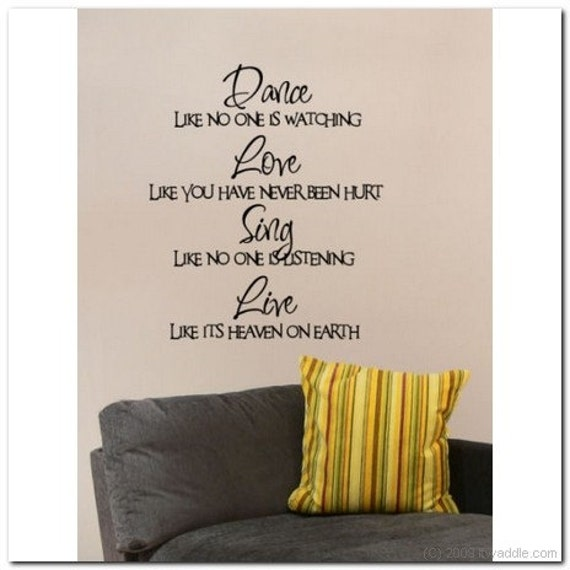 DANCE Like no one is watching - Vinyl Wall Lettering Words