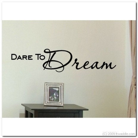 dare to dream vinyl wall lettering words decor art decal