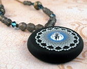 Azure Nights Boho Chic Blue and Gray Necklace