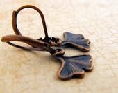 Petite Ginko Leaf Short Earring, Leaf Earring, Gift for Nature Lover, Gift for Her, Under 10