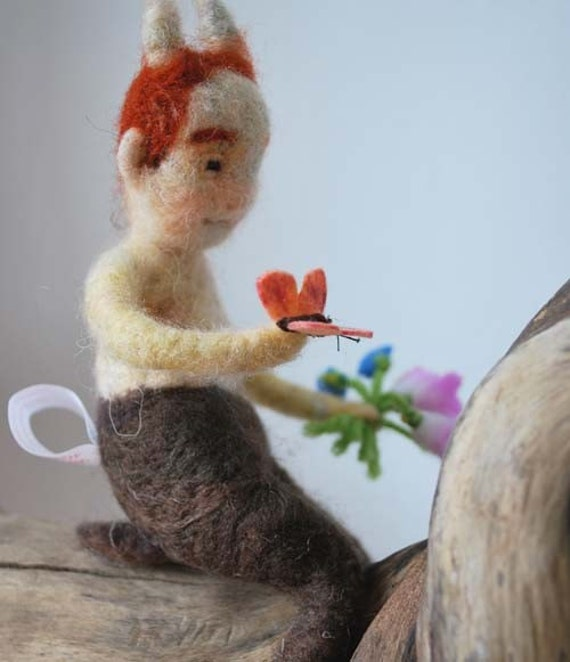 Needle Felted  Young Robin Goodfellow