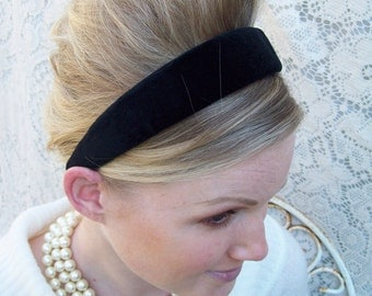 Black VELVET Headband Classic Preppy