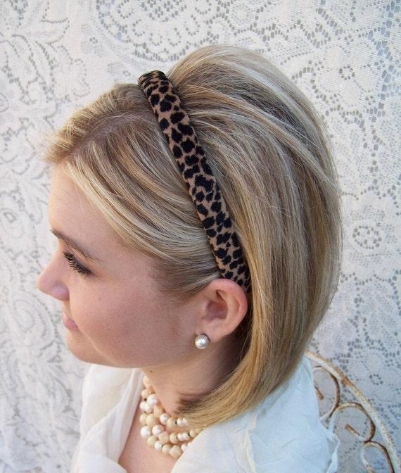 Velvet Leopard Headband Narrow