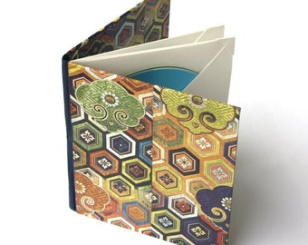 Kimono Patterned Case For Up to 4 DVD/CDs (Ready To Ship)