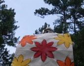 Fall Flowers Handpainted Medium Sized Canvas Tote Perfect Book Tote or Market Bag