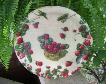 Vintage Hard Plastic Strawberry Tray