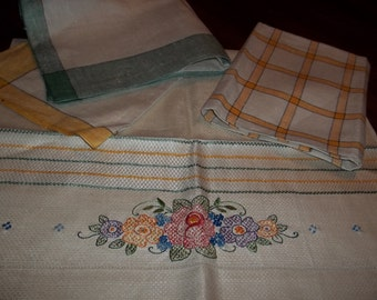 Never used four linen vintage towels