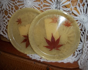 Two Vintage Calfibe tote tray