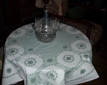 Small light sage tablecloth