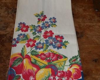 Vintage linen Fruit towel
