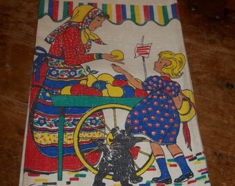 Vintage Tom Lamb Towel Girl going to market