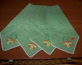 Vintage green napkins
