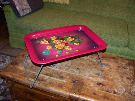 Vintage bedside table or TV tray