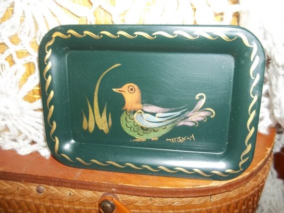 Vintage Black petite Maxey bird tray