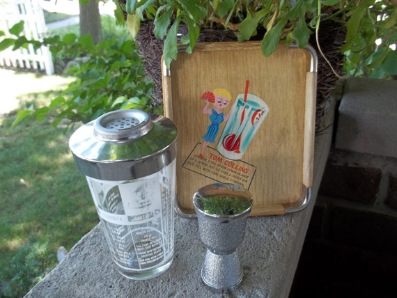 Tom Collins anyone 1060s tray and shaker