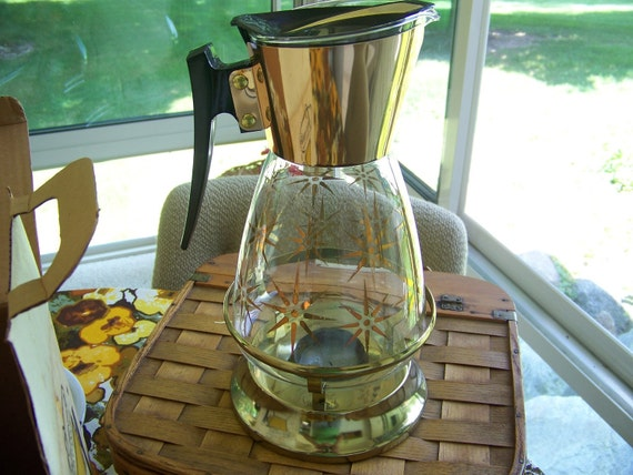 Mid Century Coffee Carafe and Warmer