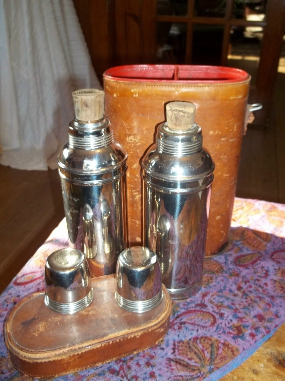 Reduced 100 year old thermos set