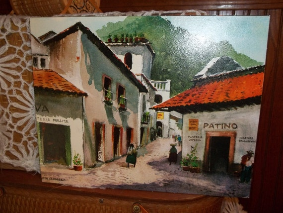 Vintage Mexican print by Dick Crocker