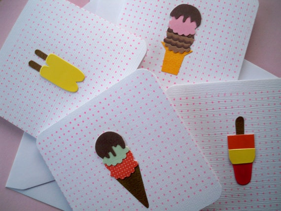 Mini Ice Cream Card
